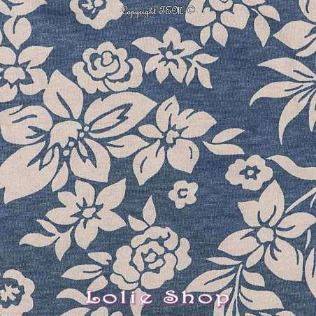 Jersey Viscose tissus Fond Bleu