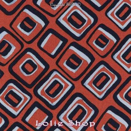 TissuTwill Viscose Imprimé LOSANGE - Fond Noisette