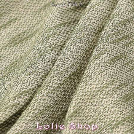 Maille Bouclette tissu Effet Tricot