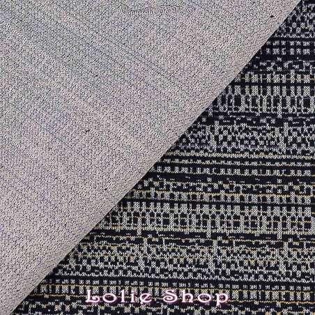 tissu-Jacquard Maille Texturé Bleu