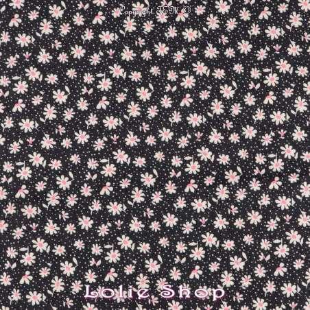 Tissu Fleurs Blanches