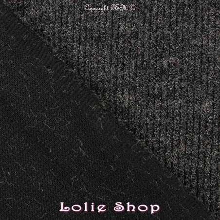 """Tisse Maille Côtelé """"ELLIOT"""" Gris Anthracite"""