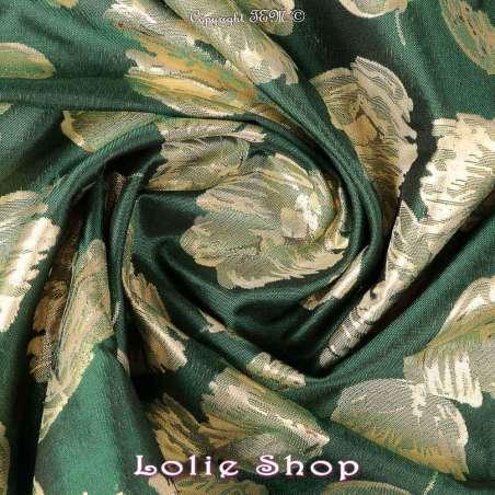 tissus Modèle ALLISA Ton Vert - Photo Rosace