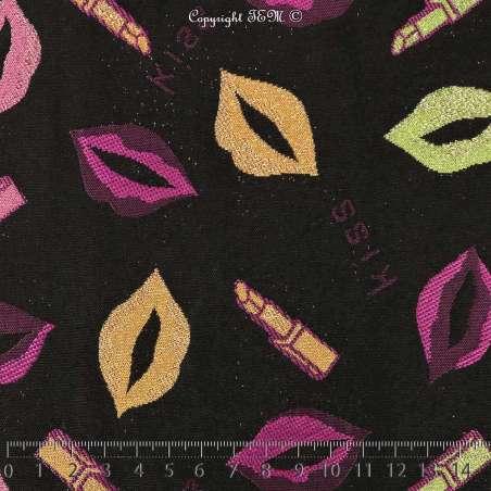 Magnifique Brocart ALBASTOF  - Modèle LEV kiss Ton Fuchsia