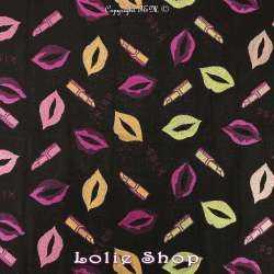 Magnifique tissus Brocart ALBASTOF  - Modèle LEV Bouche et lèvres Ton Fuchsia