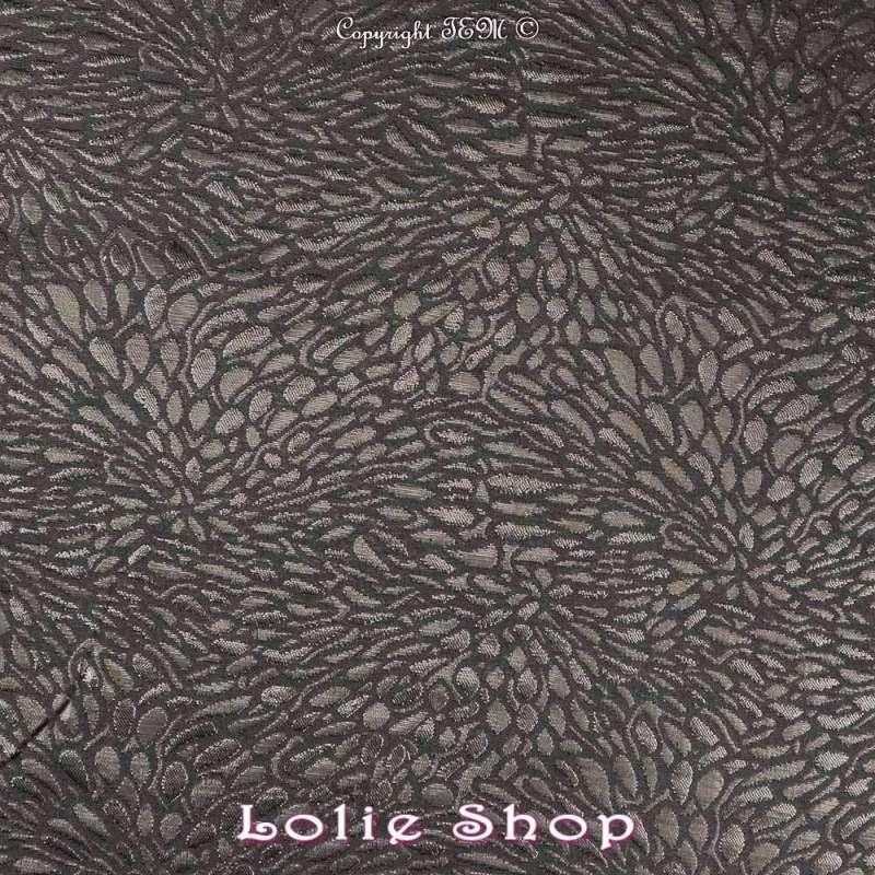 Magnifique tissu Brocart ALBASTOF  - Modèle ECATERINA Ton Noir
