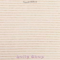 Jersey Coton Blanc Cassé Floqués Fines Rayures Dorés