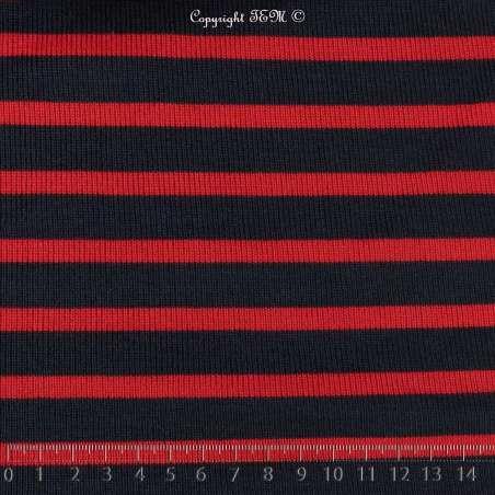 Jersey Coton Maille Tubulaire Bloqué Tissé