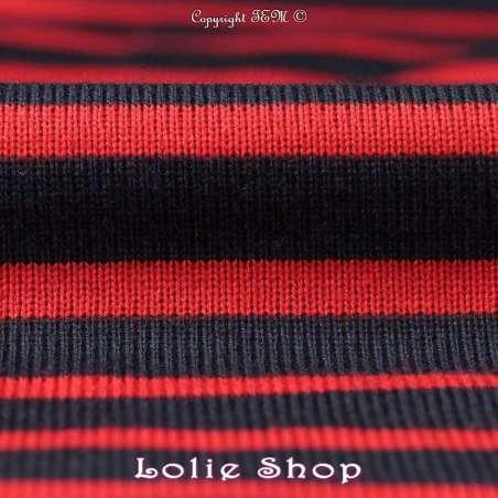 tissus-Jersey-Coton Maille Tubulaire Bloqué Tissé