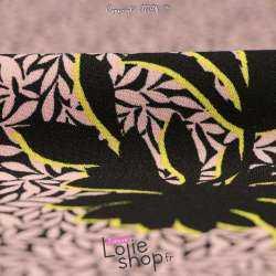 tissu Crêpe Parme et Noir