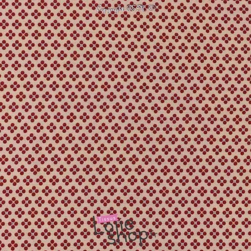 Tissu Viscose Imprimé Petit Pois Ton Framboise