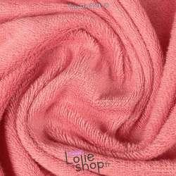 Tissu Éponge Coton pas cher vendu au mètre Couleur Rose Bonbon