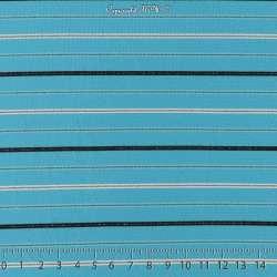 Jersey Rayures Lurex FLAVIANA Ton Bleu