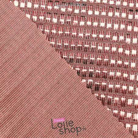 Tissu Maille Viscose Métallisé Pastille Rectangle Rose