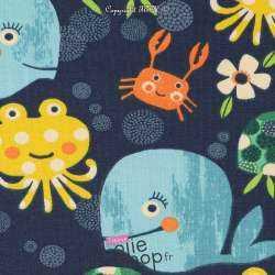 Jersey Coton Imprimé Modèle POULPY
