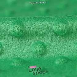 Tissu Velours Minky Doux À Pois Vert Bresil