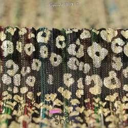 Tissu-Maille Plissée Irisée Multicolore