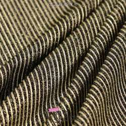 Magnifique tissus Jersey à paillette or  Dorure Or