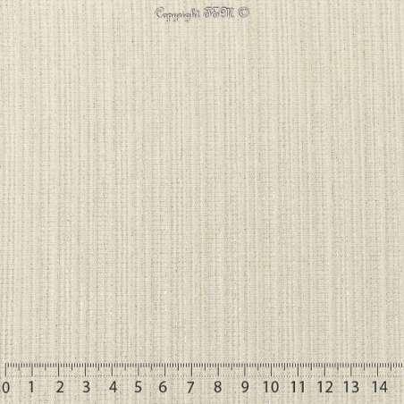 Magnifique maille Jersey Texturé Modèle ATHENA Blanc Rayures Dorure Or