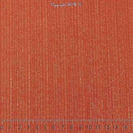 Magnifique maille Jersey Texturé Modèle ATHENA Rouille Rayures Dorure Or
