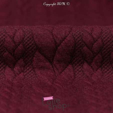 Tissu Jersey torsade pas cher Bordeaux