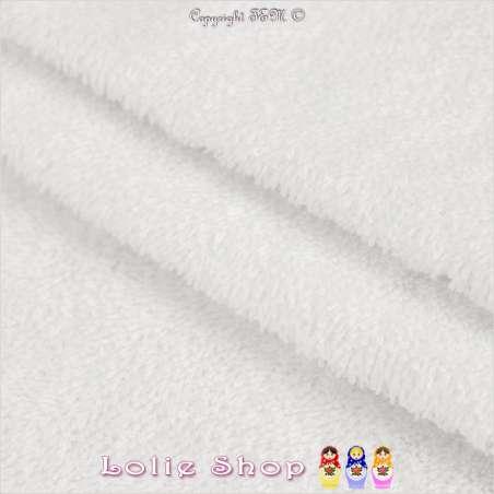 Tissu Éponge Couleur Blanche