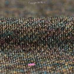 Tissu Molleton Fils Lurex Multicolore