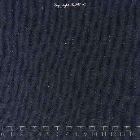 Tissu Molleton pas cher couleur Marine Lurex Argent - Photo  15x15
