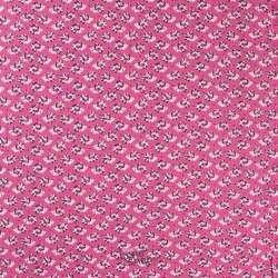 Jersey Coton Imprimé Motif Hérisson Fleuri Fond Rose
