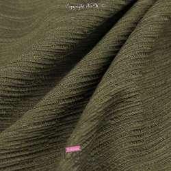 Crépon Viscose Texturé SIGRID Couleur Vert Bouteille