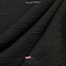 Crépon Viscose Texturé SIGRID Couleur Noir