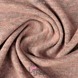 Jersey Sweat Chiné Lurex Gamme BLOOM Couleur Rose