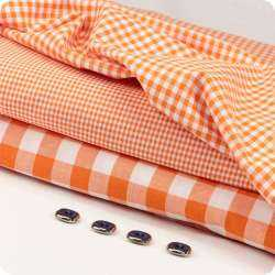 Coton Vichy 20 mm Orange