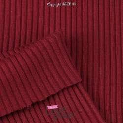tissu Jersey Heavy Bord Côte Tubulaire Bordeaux