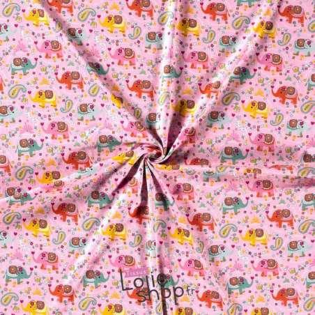 tissu Jersey Coton Imprimé Modèle SUMATRA