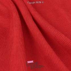 Tissu Viscose Plissé Rouge