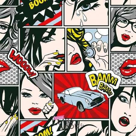 Jersey Coton  Comics GIRL Ton Rouge