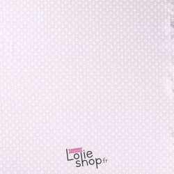 Tissu Jersey Coton Imprimé Petites Ancres Fond Azur Clair