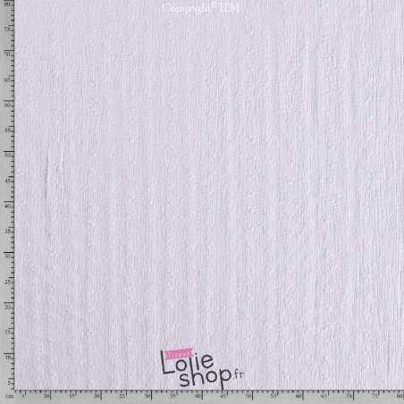 Double Gaze de Coton Brodée Blanc Modèle AIMA