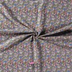 Double Gaze de Coton Imprimé Modèle FANNY Ton Pourpre