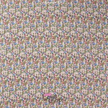 Double Gaze de Coton Imprimé Modèle FANNY Ton Blanc