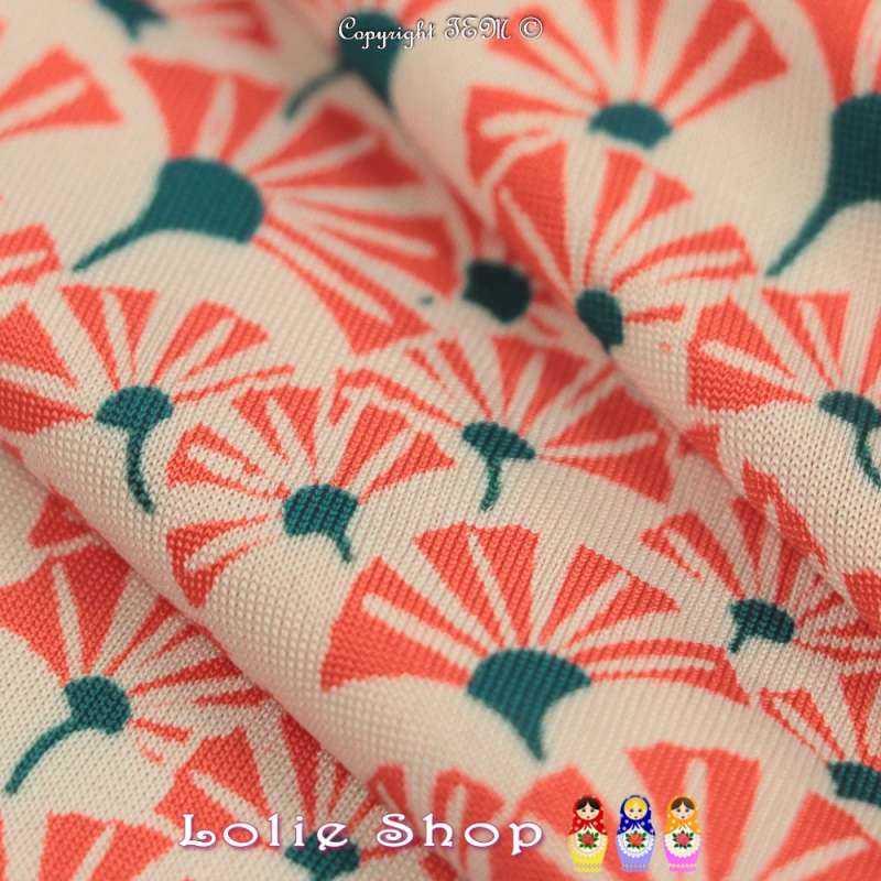 Jersey Maillot Motif Graphique Ton Orange Fond Écru