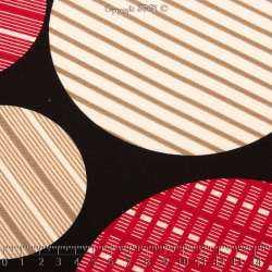 Jersey Polyester Gratté Imprimé Modèle JOY Couleur Ton Rouge et Beige Sur fond Noir - Photo 15x15 Cm