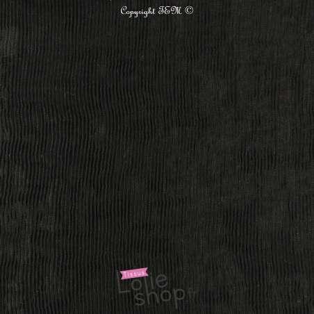 Tissu Plissé  Couleur Noir
