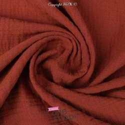 tissu pas cher gaze de coton au mètre 100% coton  Terracotta