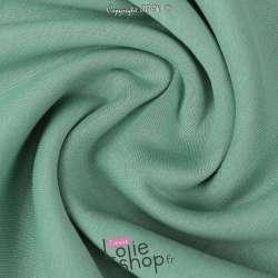 Tissu Sweat Epais Vert Menthe envers Molletonné