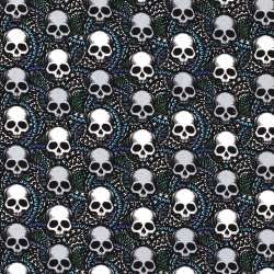 Tissu-French-Terry SKULL