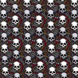 Tissu French Terry SKULL