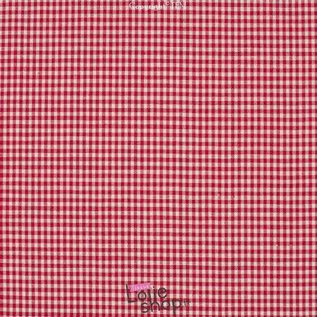 Coton tissé teint Vichy Carreaux 2 mm Rouge