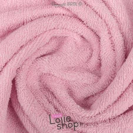 Tissu Éponge Serviette gamme Thalasso oeko tek Couleur rose